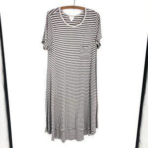 🌈3/22 LuLaRoe Striped Carly Dress Sz M